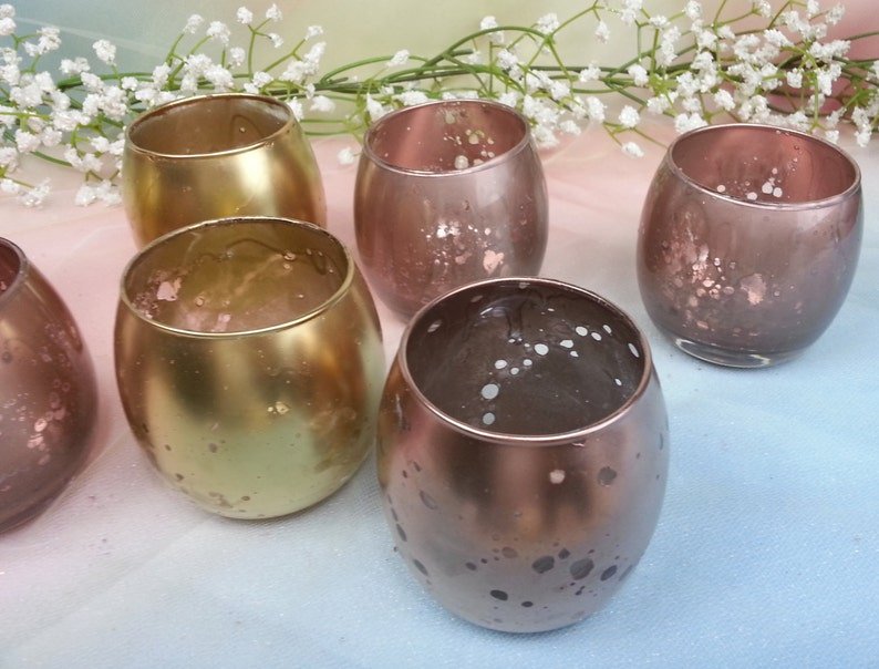 10 per /  Hurricane Petite Wedding Glass Votive Candle Holder image 0