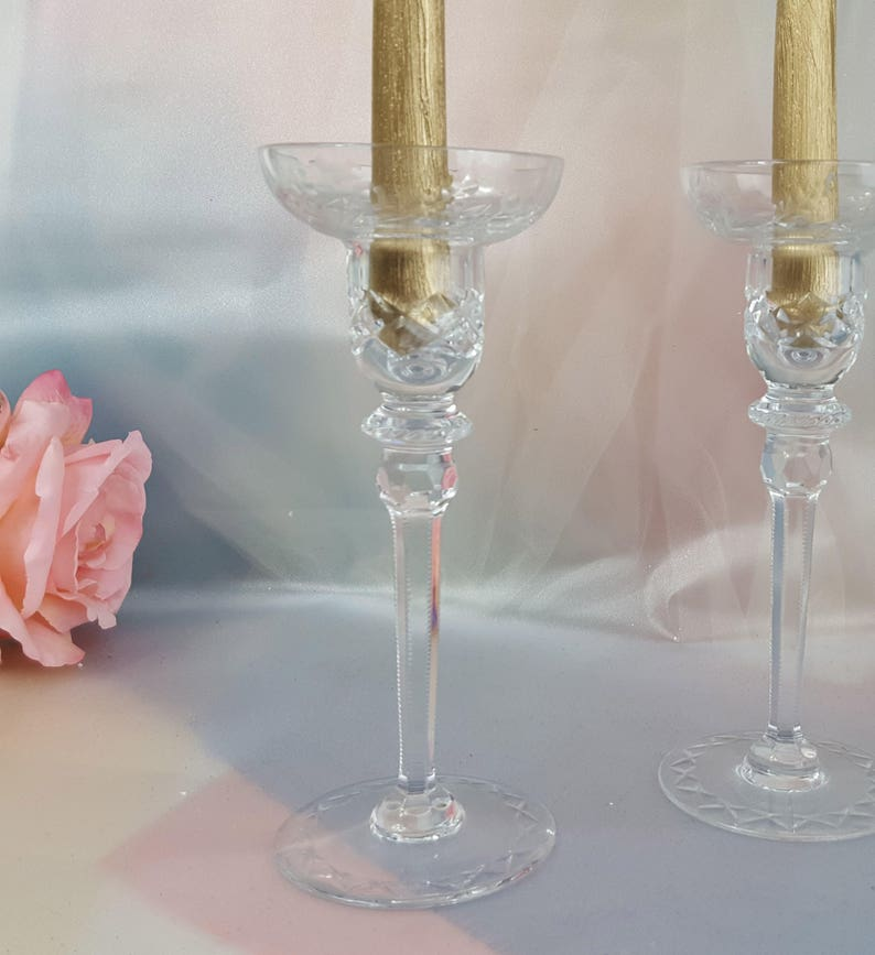 Rogaska Crystal Vintage Candle Stick Holders Crystal candle image 0