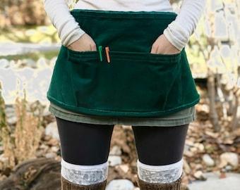 Everyday Mini Apron in Emerald or Denim