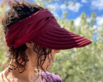 Wrap Visor Wide Brim Linen Sun Hat