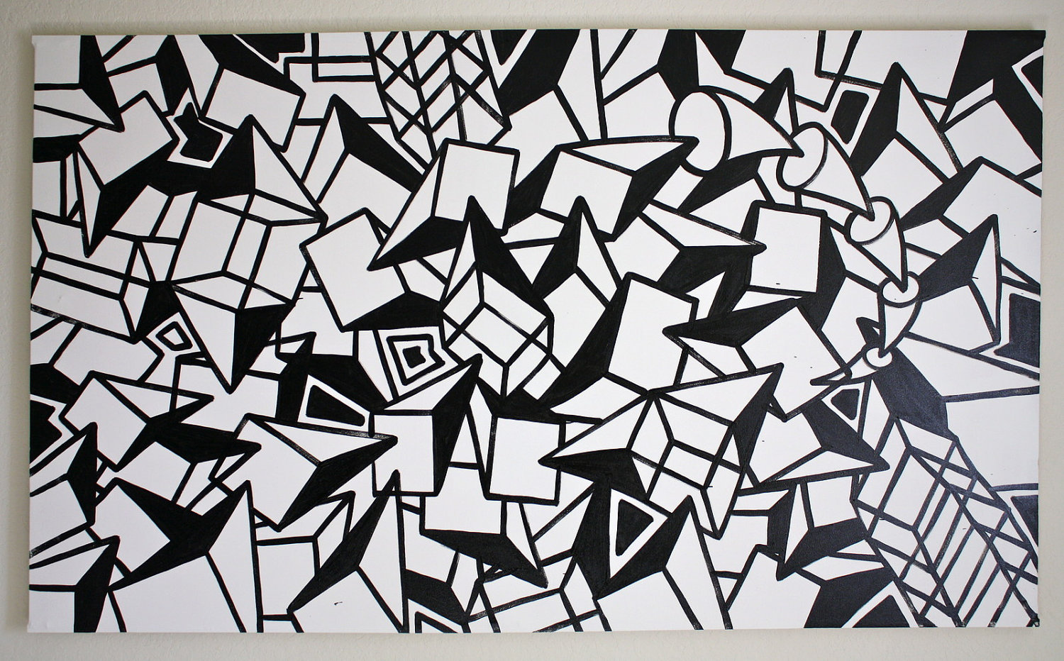 Original black and white abstract contemporary minimalism fine etsy