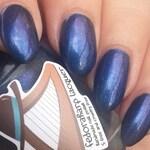 Mashiv Haruach (mini size & full size) Blue/indigo duochrome with holo flash indie polish by Fedoraharp Lacquer