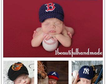 13cd86b438e Baby Baseball Team Cap -- Newborn Baseball cap