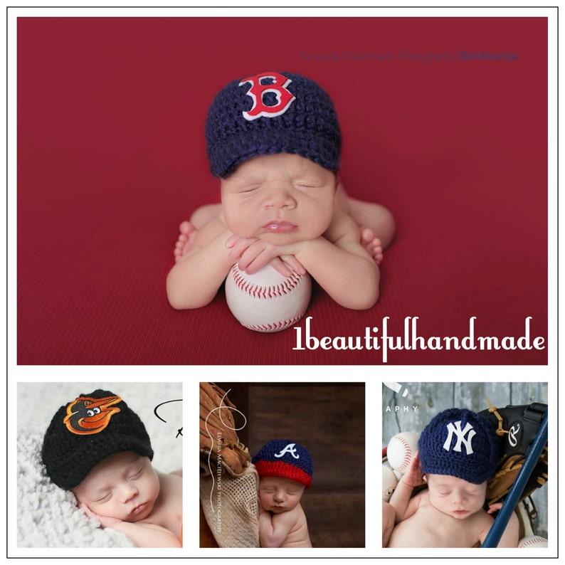 45667351434 Baby Baseball Team Cap Newborn Baseball cap Baseball photo