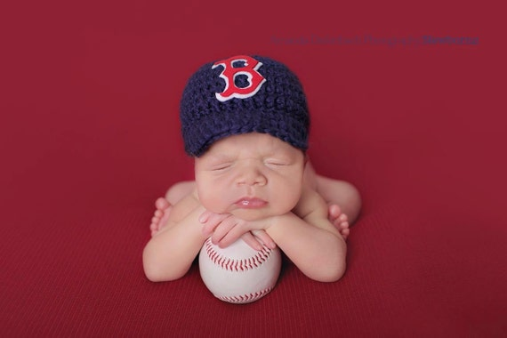 Baby Boy crochet Boston Red Sox Baseball Cap Diaper  ba1b8144307