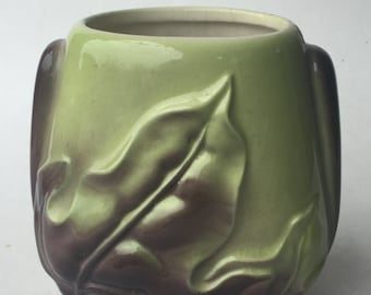 Unique Green and Brown Vase