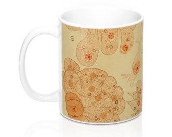 Colorful Orange Plant Embryo Ceramic Coffee Mug (11 oz.)