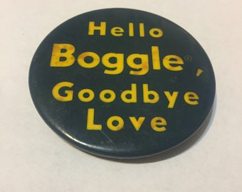 Vintage Boggle Advertising Pinback Button