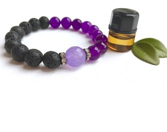 Lava Stone Bracelet • Aromatherapy • Quartz • Oil Diffuser Stone • Aromatherapy Bracelet • Essential Oil Bracelet • Healing Bracelet
