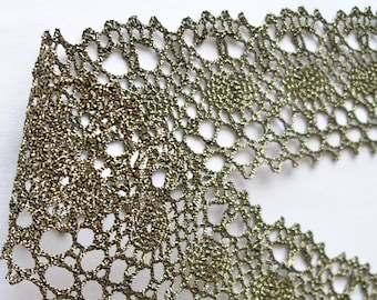 "Antique Gold Lace Trim  2 1/4"" x 1 yards - Very pretty Lace"