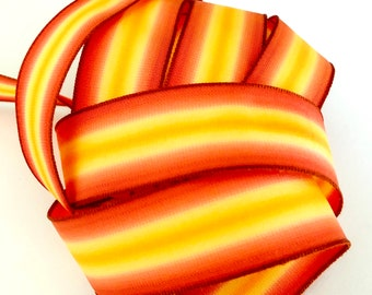 French Wire Edge Ribbon Iridescent Burnt Orange Jacquard from India