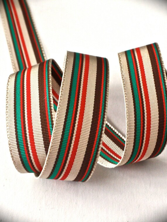 "10 Yards Christmas Red Green Polka Dot Acetate Ribbon 3//4/""W"