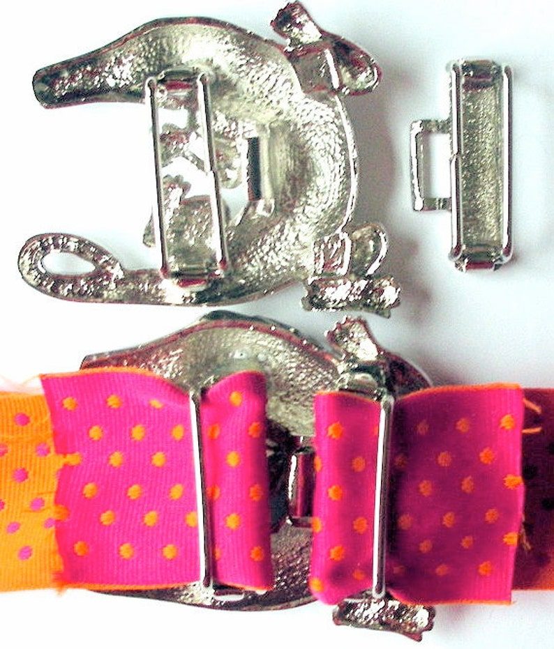Sorry Bad Picture Summer Sale Front and Back  Shown Palm Tree Novelty Buckle in Silver Color wRhodium Plate