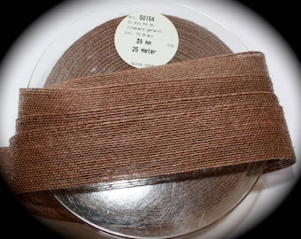 "Jute Trim - 1 1/2"" x 3 yards - Lt Brown - Swiss Made, Juteband"