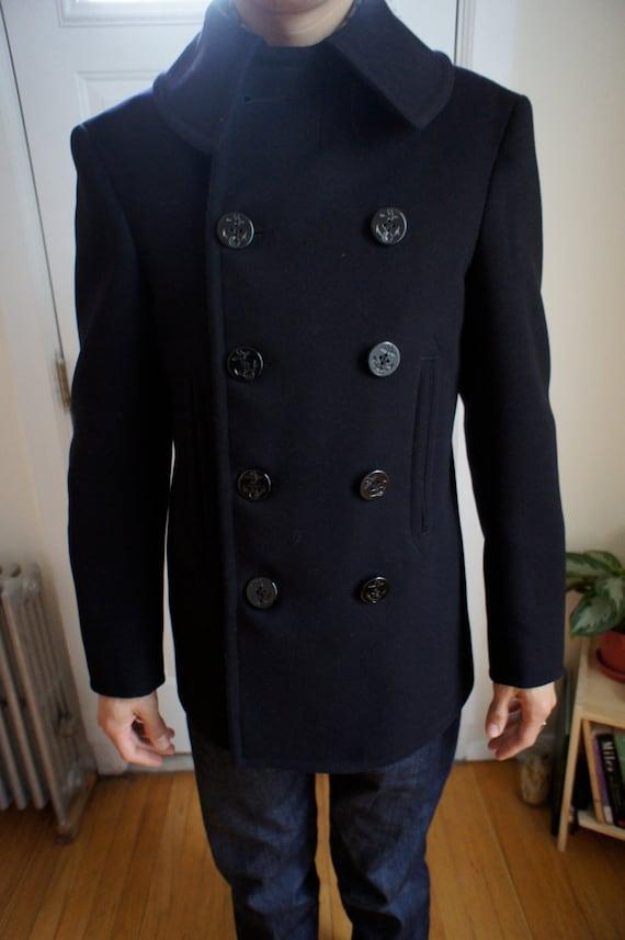 Vintage Wool Naval jacket 1940's WWII
