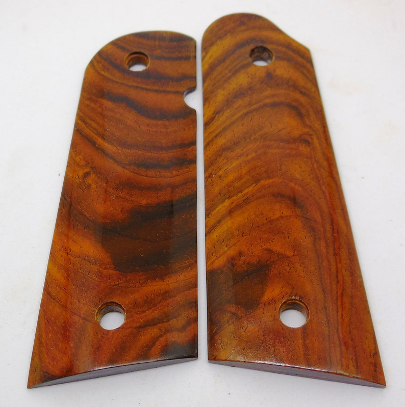 1911 Custom Made Pistol Grips - Beautiful Cocobolo Burl- Also Grips Made To  Order From Other Woods - Engraving Available