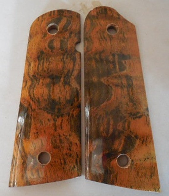 1911 Custom Made Pistol Grips - Beautiful Quilted Maple Burll- Also Grips  Made To Order From Other Woods - Engraving Available