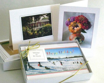 A Custom Box of 8 Notecards - Pick a Themed Gift Set