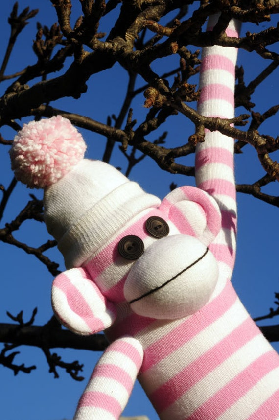 How to make soft toys at home with socks - Sock Monkey