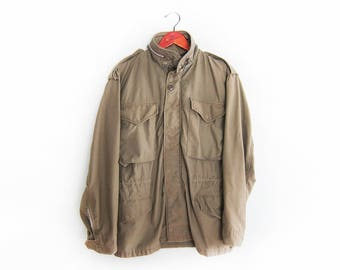 vintage army jacket / M65 army jacket / Vietnam War jacket / 1960s US Army M65 field jacket Small