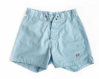 9cb1d2a9cd vintage shorts / Hang Ten shorts / surf shorts / 1970s light blue Hang Ten  high waist surf shorts 27