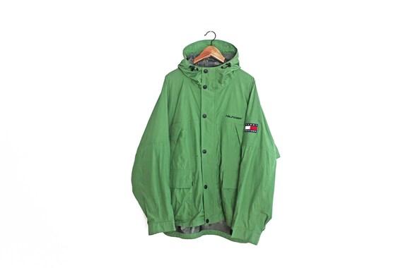 vintage jacket / Tommy Hilfiger / 90s parka / 1990