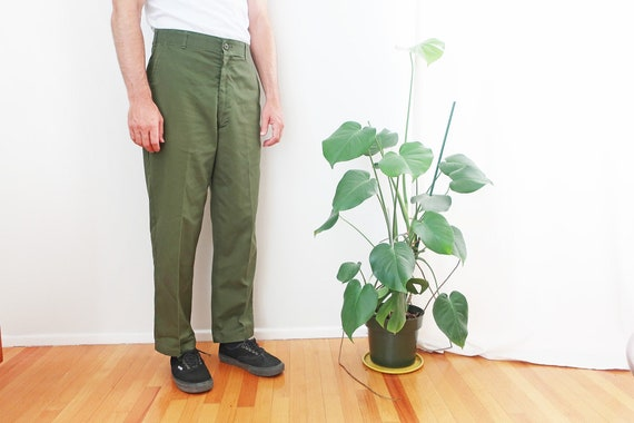 vintage army pants / baker pants / 80s army pants