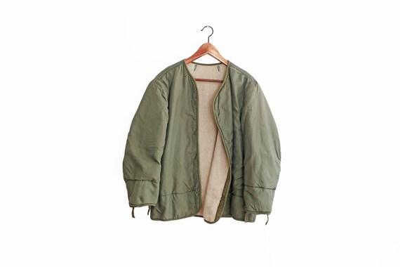 vintage army jacket / Army jacket liner / 50s Army