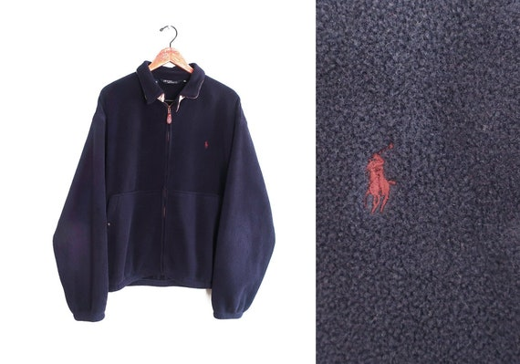 vintage sweatshirt / 90s fleece / POLO fleece / 19