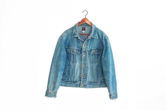 vintage denim jacket / vintage Lee jacket / thrash