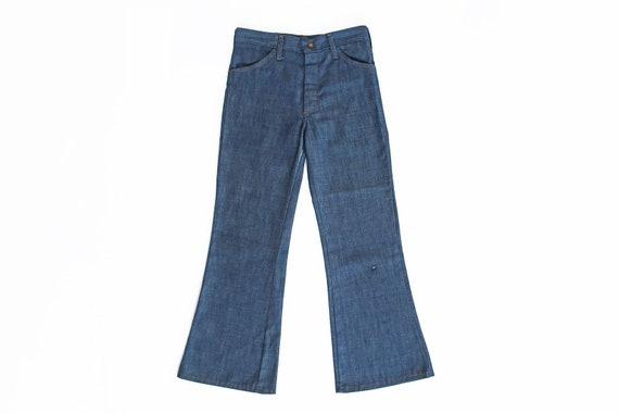 vintage denim / high waist jeans / vintage bell bo