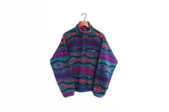 vintage sweater / Patagonia fleece / 90s fleece /
