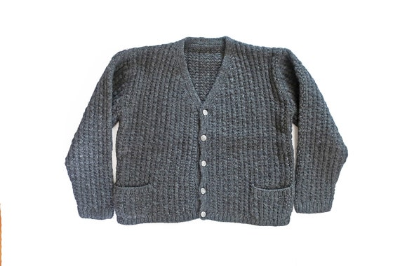vintage cardigan / grandpa cardigan / cable knit c