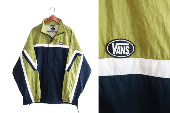 vintage windbreaker / Vans windbreaker / 90s skate