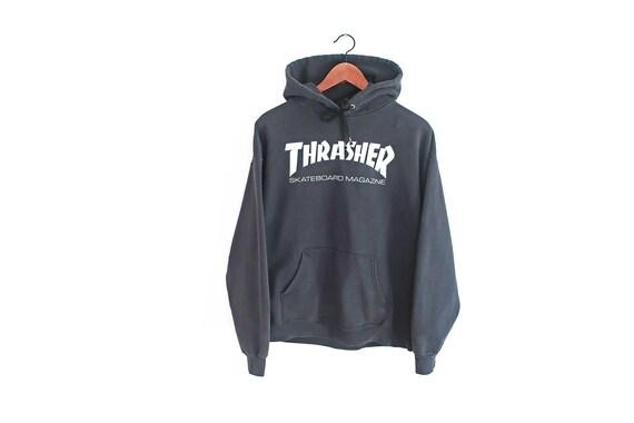 vintage sweatshirt / Thrasher hoodie / skate sweat