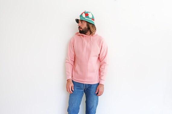 vintage sweatshirt / pink hoodie / raglan sweatshi
