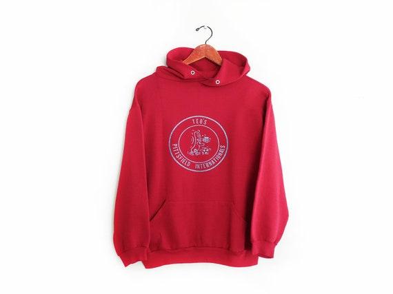 vintage sweatshirt / 70s sportswear / vintage hood