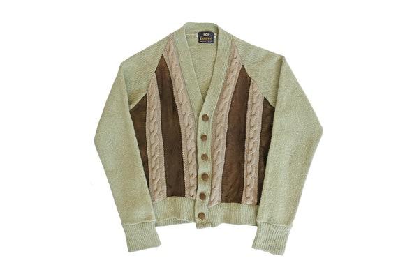 vintage cardigan / grandpa cardigan / green cardig