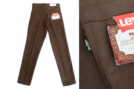 Black Dark Brown Corduroy Skinny Fit Trousers Cords Jeans Vintage New MOD Retro