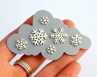 Silver snowflakes earrings - snowflakes studs - silver snowflakes - snowflakes jewelry