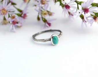 Turquoise twig ring - branch ring - silver branch ring - turquoise ring - turquoise band - turquoise branch ring