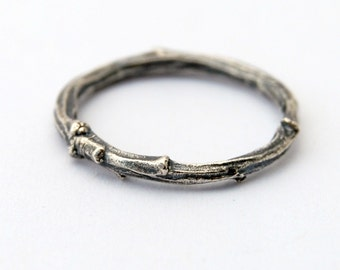 Silver branch ring. sterling silver ring.  silver willow. twig ring. branch ring
