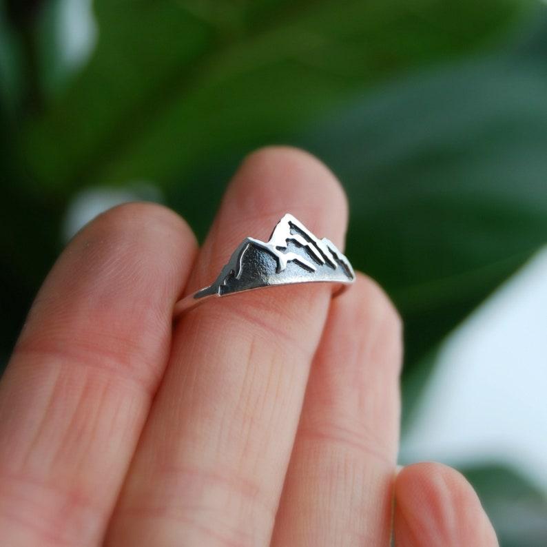 silver mountain sterling silver mountain mountain jewelry Silver mountain ring