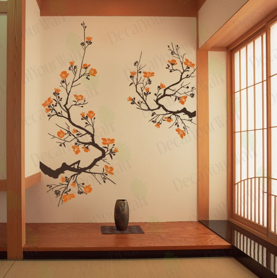 Cherry Blossom Wall Decal Large Tree Branch Japanese Wall Art | Etsy