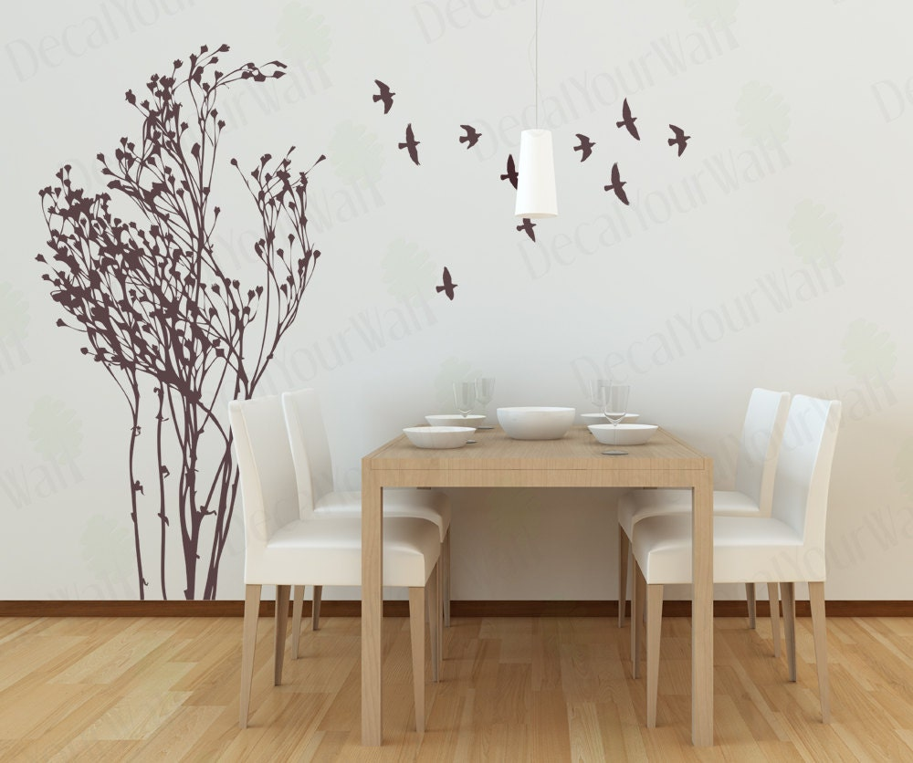 Tree wall decal living room decals bedroom wall art home decor - Removable wall stickers living room ...