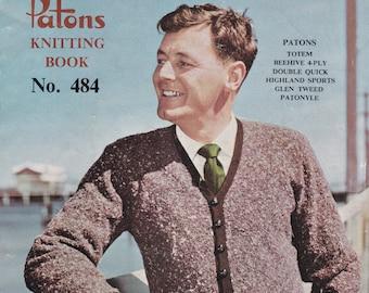 d5f3a7bdde5ff On Sale - Patons Knits for Men Vintage Knitting Book