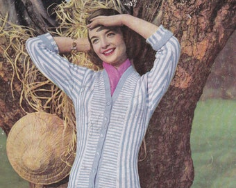 On Sale - Stitchcraft Magazine 1950s Knitting Pattern, Embroidery, Needlework Pattern Book