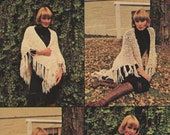 ON SALE - Cleakheaton Multi Knits Knitting Pattern No 168 for Shawls in Country Spun Trends Twist Warmth in 8 ply and 12 ply wool.