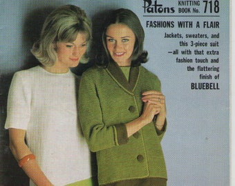 PATONS KNITTING 2110 MODERN KNITS FOR YOUNG GUYS 4-14 CARDIGAN JUMPER 8 PLY