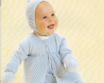 d19042876 Patons Knitting Pattern No 454 for Baby in Bluebell or